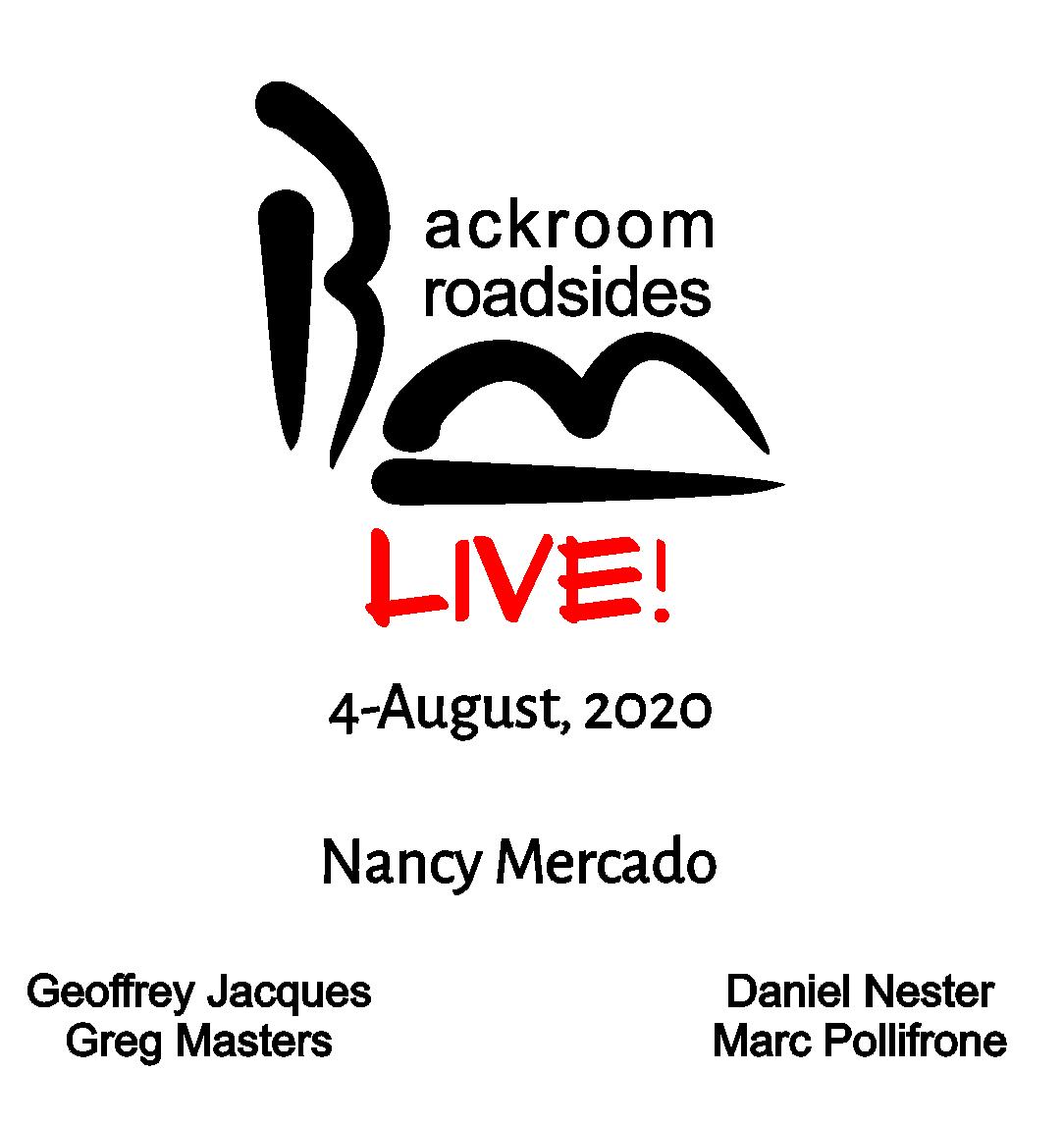 Backroom Broadsides Live Readers - August 2020